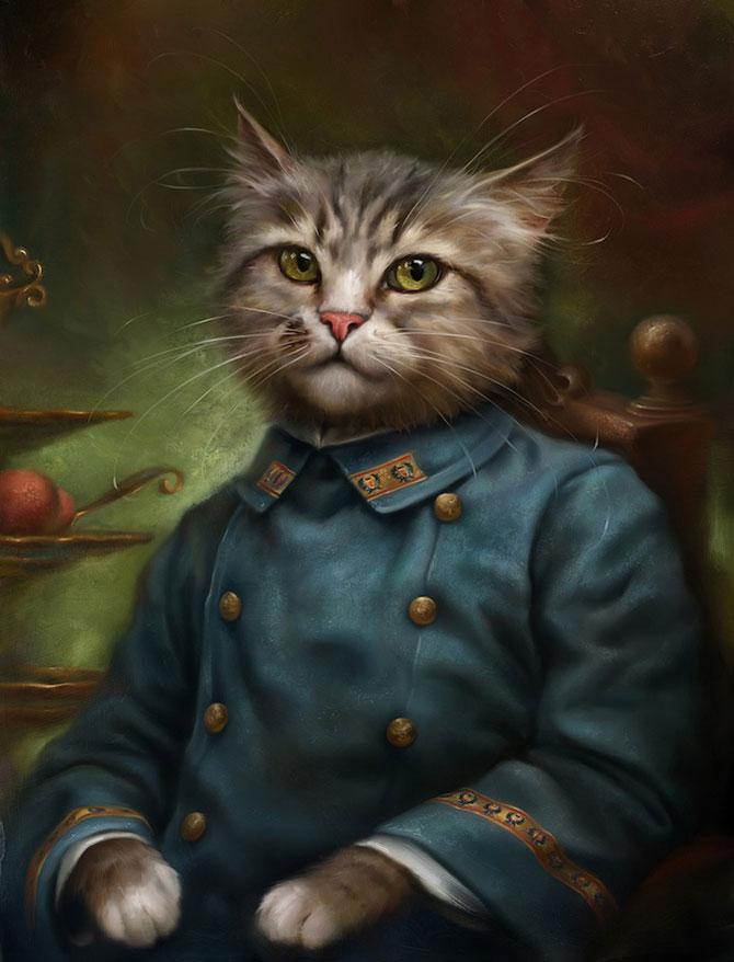 Pisici nobile, pictate de Eldar Zakirov - Poza 5
