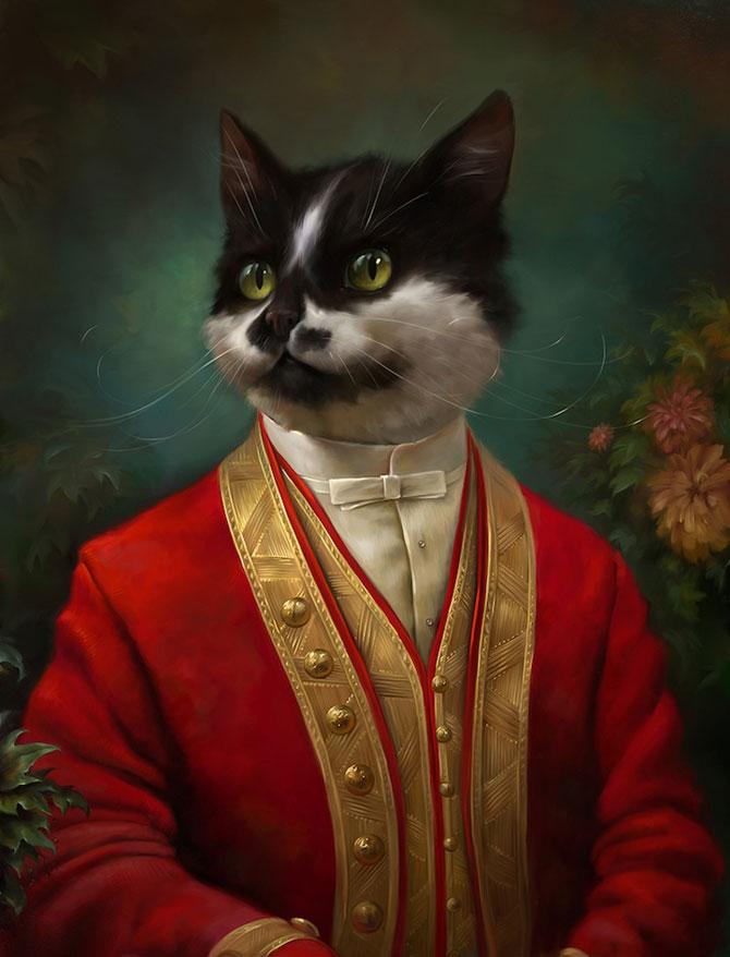 Pisici nobile, pictate de Eldar Zakirov - Poza 6