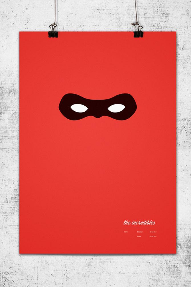 Postere minimaliste Pixar