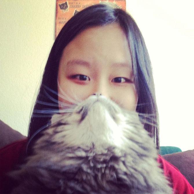 Pe jumatate om, pe jumatate pisica
