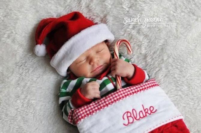 13 super poze cu bebelusi, de primul lor Craciun - Poza 2