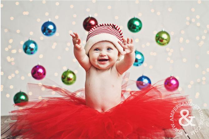 13 super poze cu bebelusi, de primul lor Craciun - Poza 4