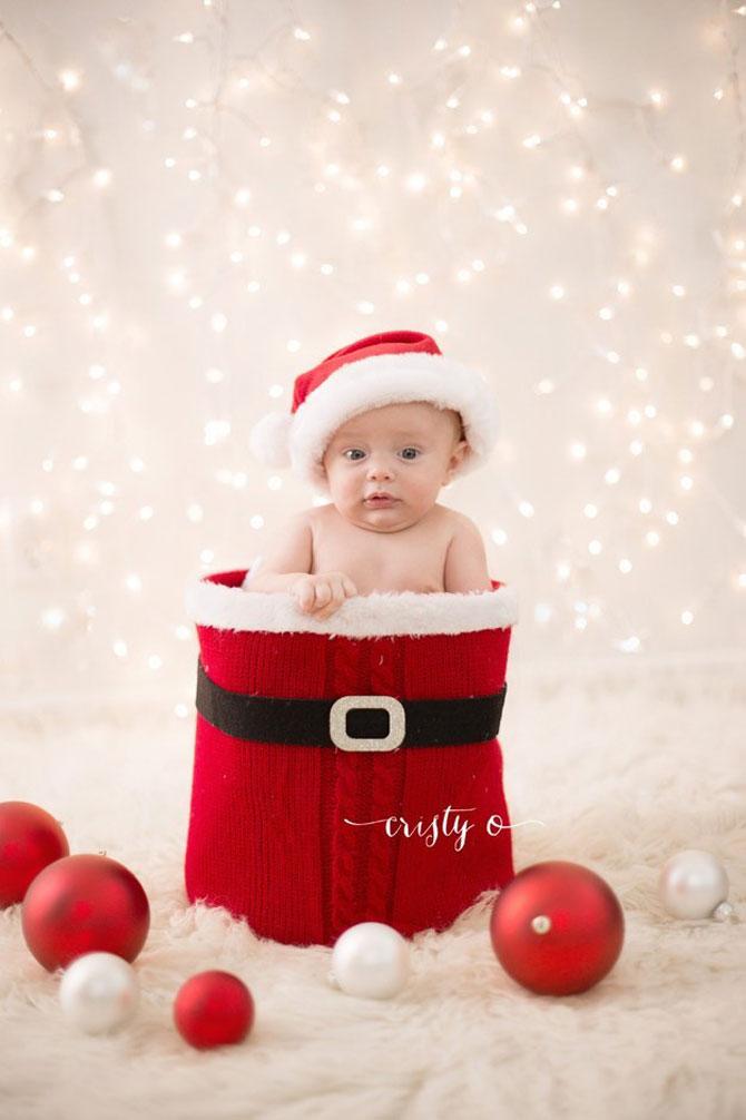 13 super poze cu bebelusi, de primul lor Craciun - Poza 8