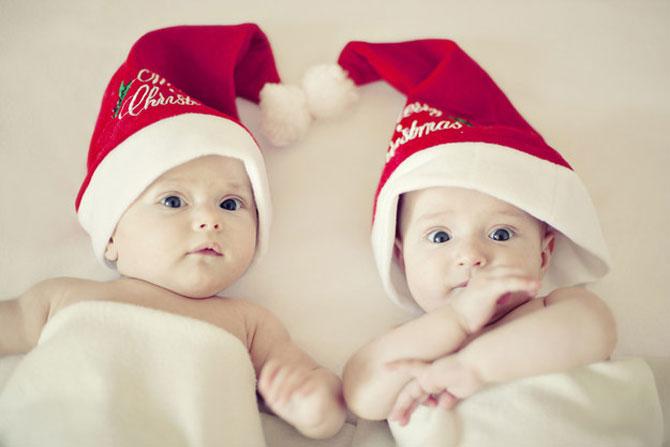 13 super poze cu bebelusi, de primul lor Craciun - Poza 9
