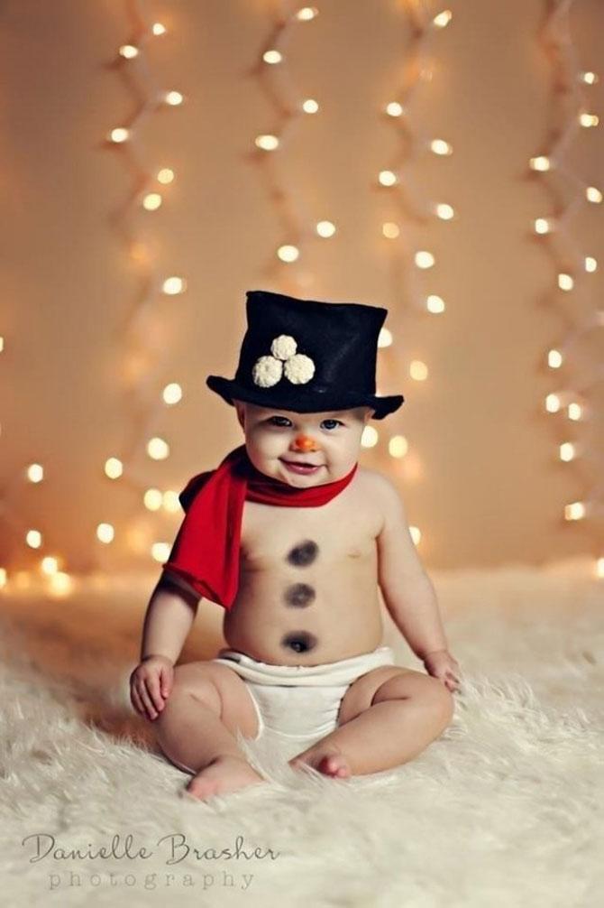 13 super poze cu bebelusi, de primul lor Craciun - Poza 10