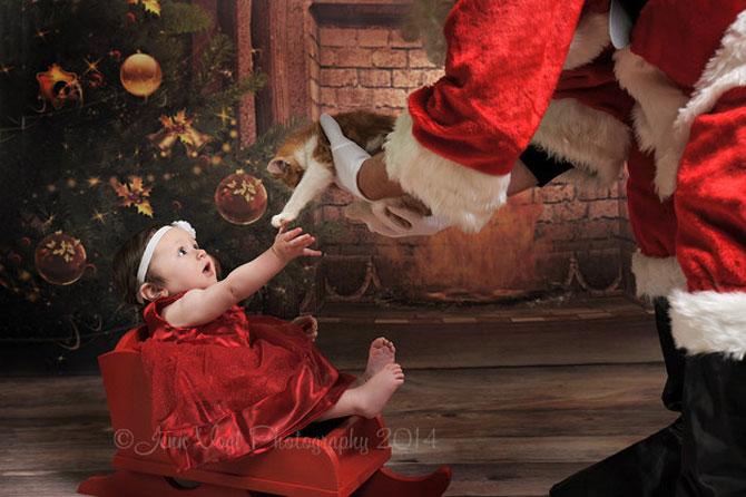13 super poze cu bebelusi, de primul lor Craciun - Poza 12