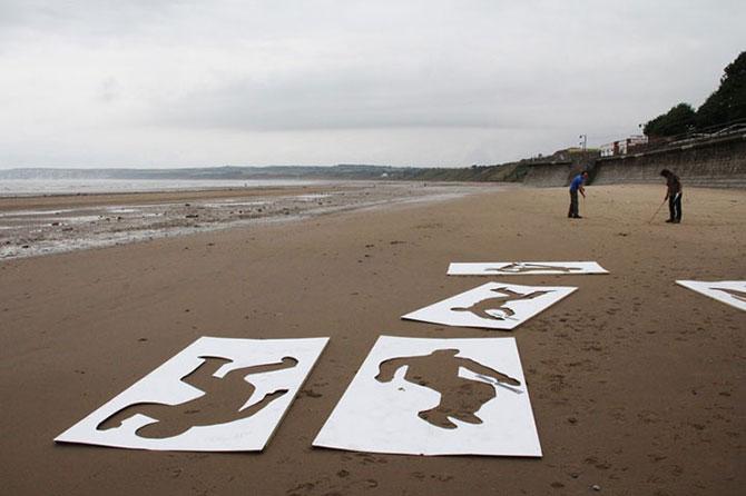 9.000 de siluete in nisip pentru Ziua Z - Poza 2
