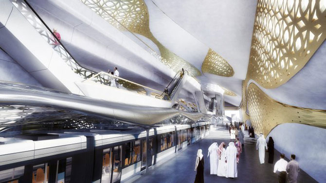 Metroul-vapor din Arabia Saudita, de Zaha Hadid - Poza 3
