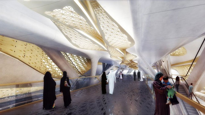Metroul-vapor din Arabia Saudita, de Zaha Hadid - Poza 4