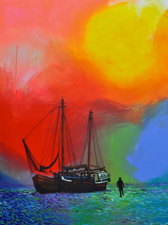 Marea metaforic multicolora, pictata de Joshua Petker - Poza 1