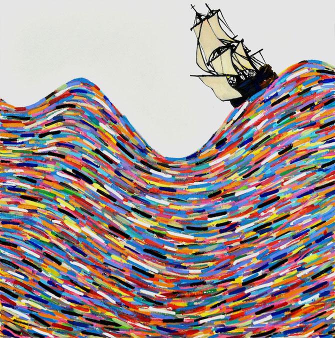 Marea metaforic multicolora, pictata de Joshua Petker - Poza 2