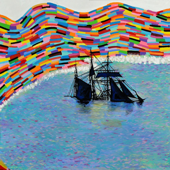 Marea metaforic multicolora, pictata de Joshua Petker - Poza 3