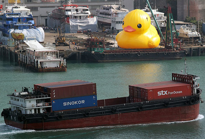 Ratusca gigantica navigheaza la Hong Kong! - Poza 4