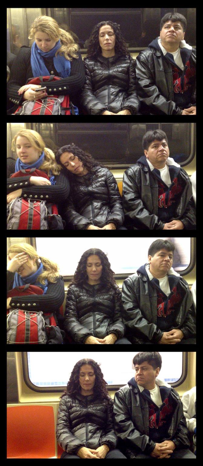 Cum reactionezi daca adoarme cineva pe tine in metrou? - Poza 4
