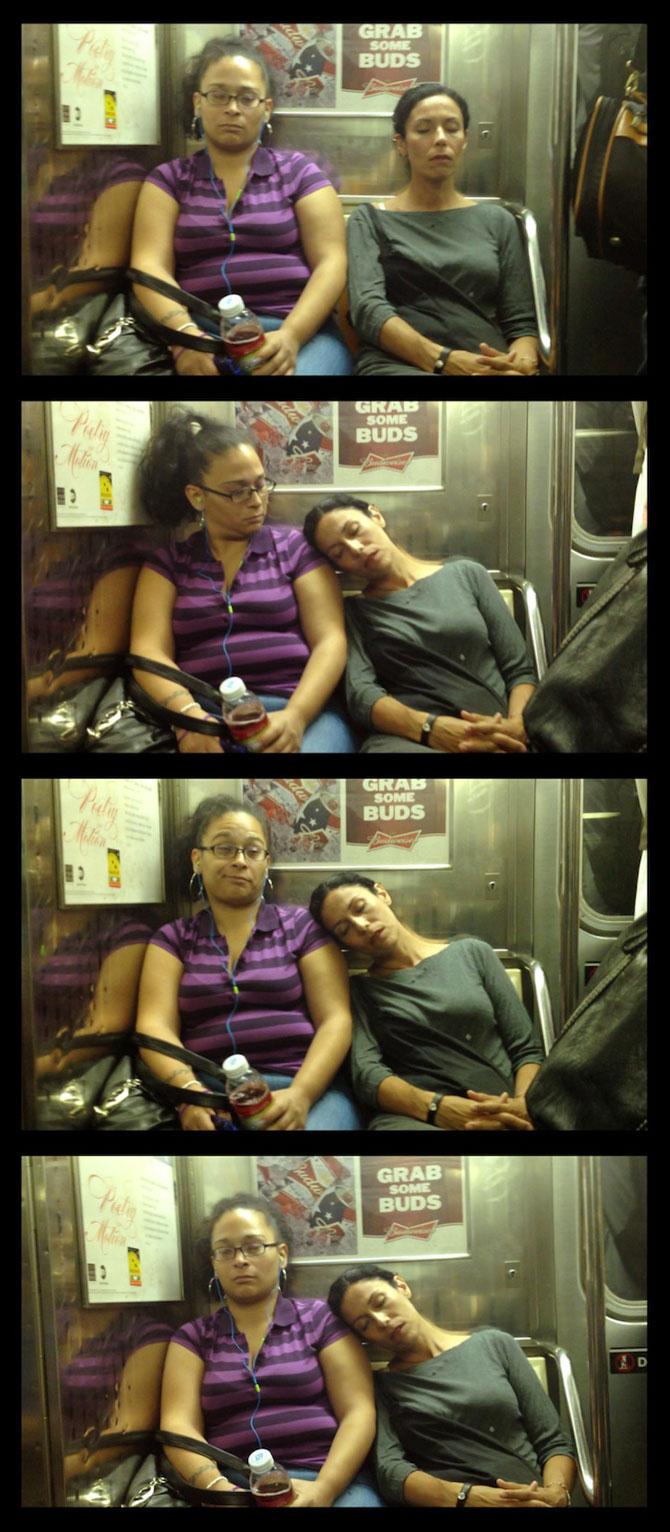 Cum reactionezi daca adoarme cineva pe tine in metrou? - Poza 6