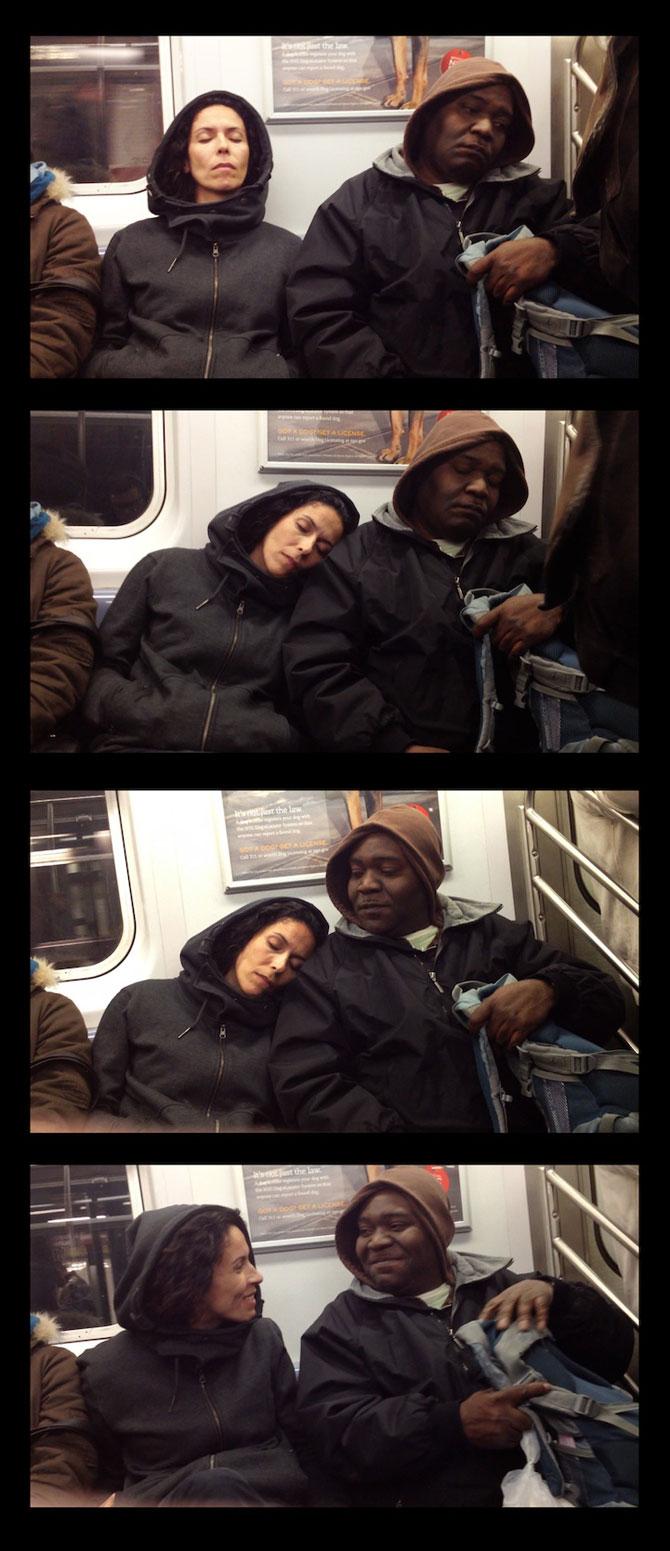 Cum reactionezi daca adoarme cineva pe tine in metrou? - Poza 7