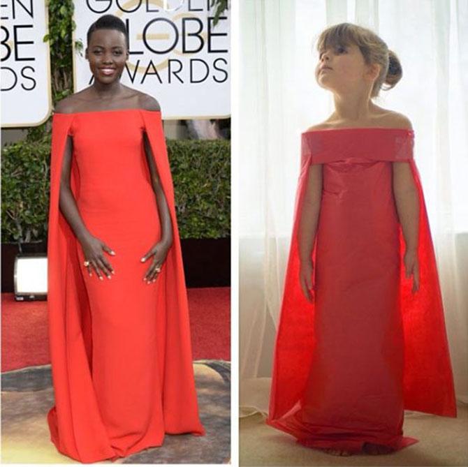 Designer de rochii din hartie la 4 ani!