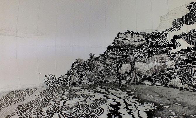 Oscar Oiwa a desenat o insula pe peretii unei scoli - Poza 6