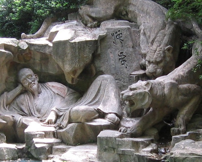 Sculptura legendara, la Izvorul Hupao, in China