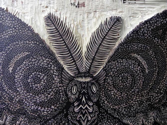 Molie sculptata cu incredibil de multe detalii - Poza 2