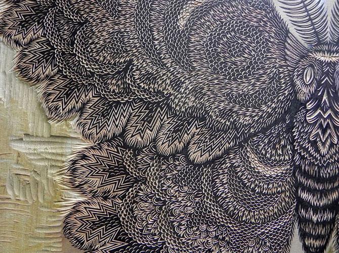 Molie sculptata cu incredibil de multe detalii - Poza 3