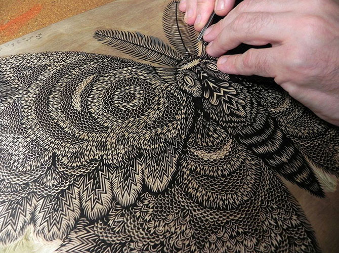 Molie sculptata cu incredibil de multe detalii - Poza 4