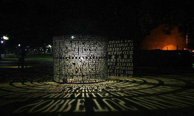 Poezii sculptate in lumina si cupru de Jim Sanborn - Poza 4