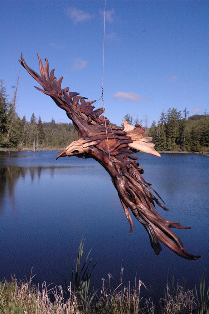 Sculpturi din lemne culese din ocean, de Jeffro Uitto - Poza 3