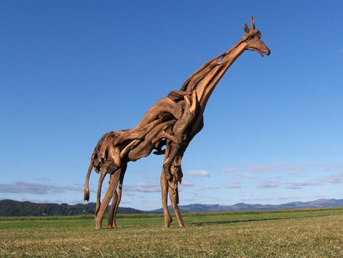 Sculpturi din lemne culese din ocean, de Jeffro Uitto - Poza 4