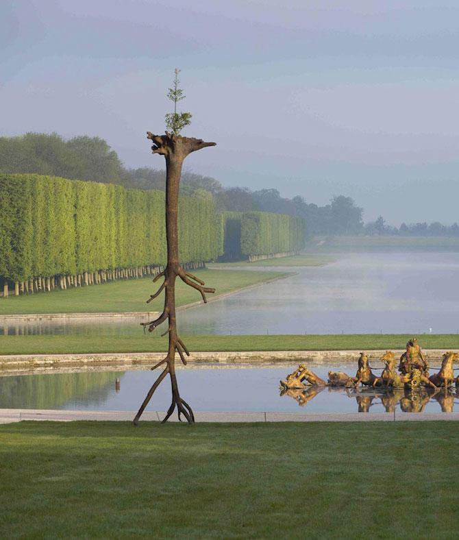 Sculpturi-copaci, in gradina de la Versailles - Poza 1
