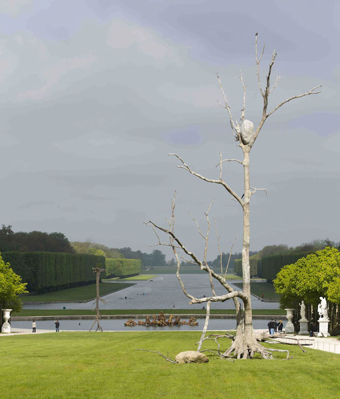 Sculpturi-copaci, in gradina de la Versailles - Poza 4
