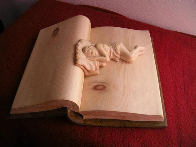 Viata sculptata in lemn si carti de Nino Orlandi - Poza 5