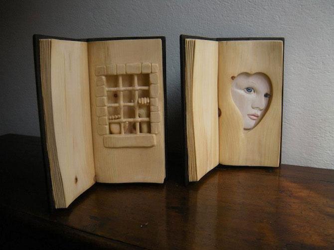 Viata sculptata in lemn si carti de Nino Orlandi - Poza 6
