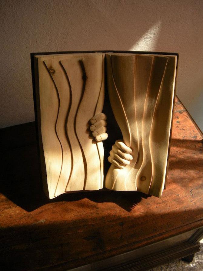 Viata sculptata in lemn si carti de Nino Orlandi - Poza 8