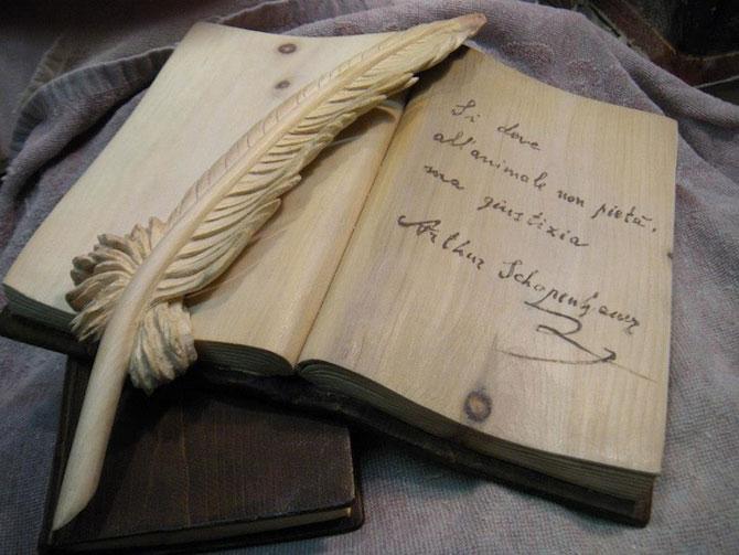 Viata sculptata in lemn si carti de Nino Orlandi - Poza 9
