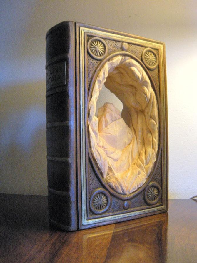 Viata sculptata in lemn si carti de Nino Orlandi - Poza 10