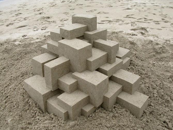 Geometrie sculptata in nisip de Calvin Seibert - Poza 2