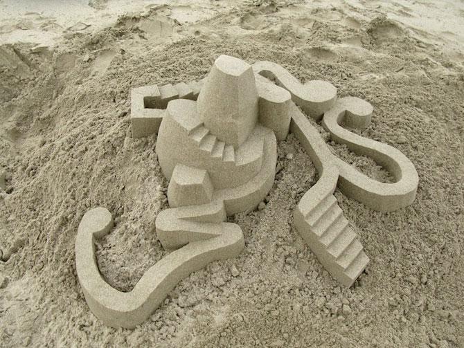 Geometrie sculptata in nisip de Calvin Seibert - Poza 4