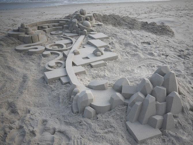 Geometrie sculptata in nisip de Calvin Seibert - Poza 6