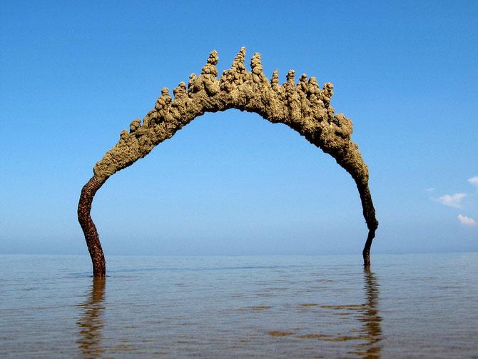 Sculpturi de nisip care sfideaza gravitatia - Poza 2
