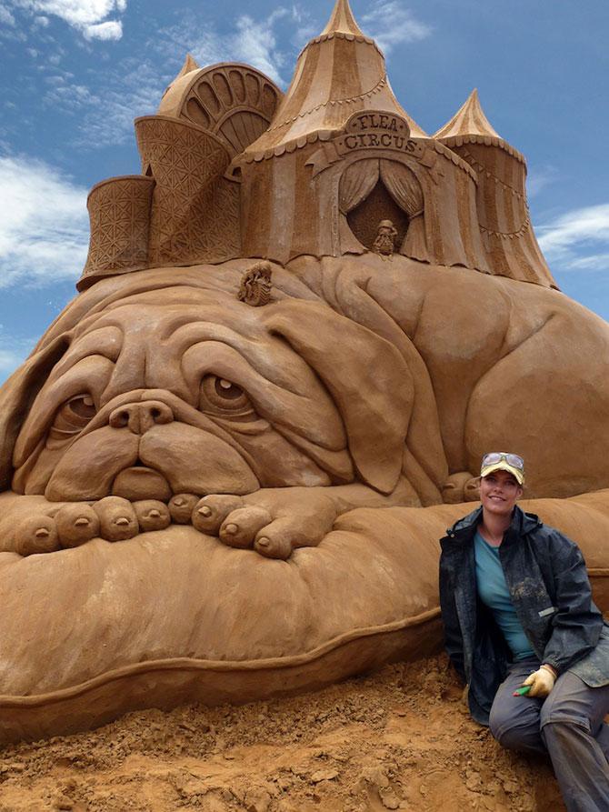 Sculpturi incredibile din nisip, de Susanne Ruseler - Poza 1