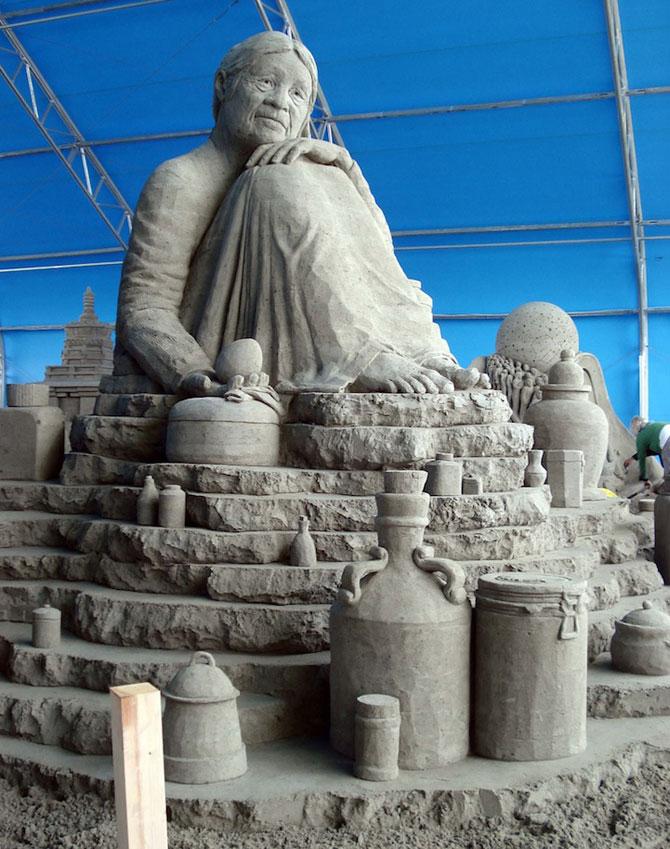 Sculpturi incredibile din nisip, de Susanne Ruseler - Poza 5