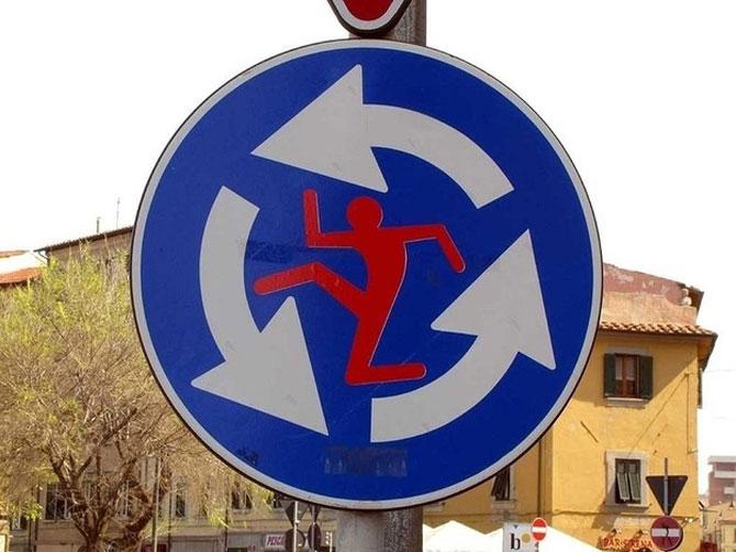 12 semne creative de circulatie - Poza 7