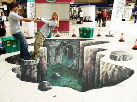 25 de desene 3D pe asfalt - Poza 19