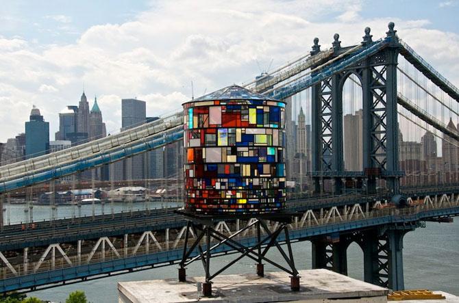 Turnul de apa cu vitralii din Brooklyn - Poza 1