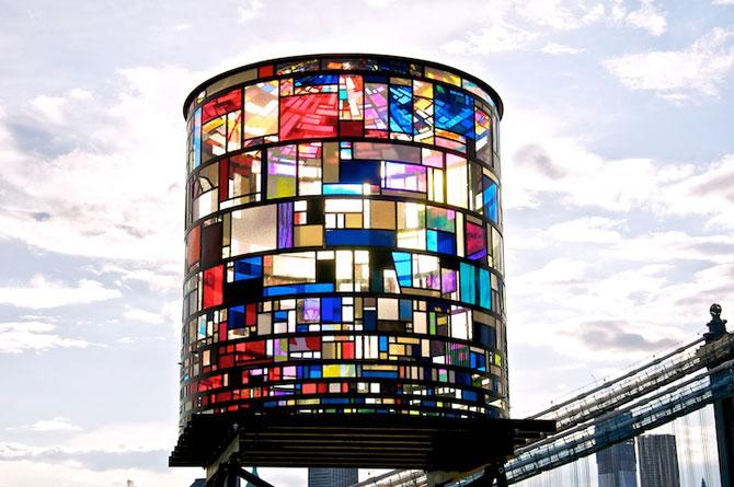 Turnul de apa cu vitralii din Brooklyn - Poza 2