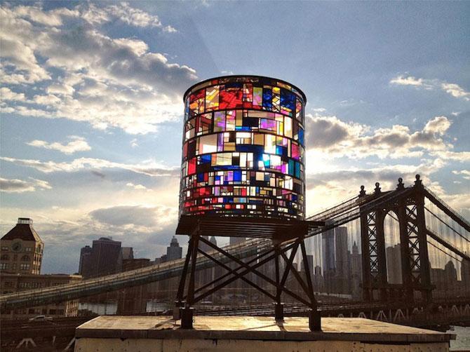 Turnul de apa cu vitralii din Brooklyn - Poza 3