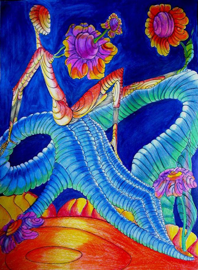 Alexandra Hahn picteaza naiv vise suprarealiste - Poza 3