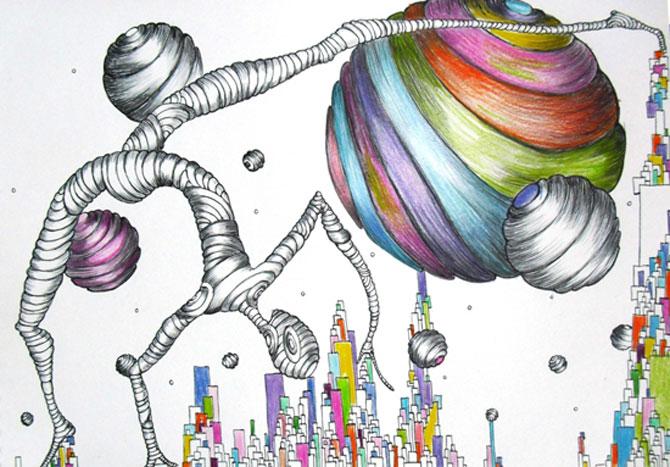 Alexandra Hahn picteaza naiv vise suprarealiste - Poza 9