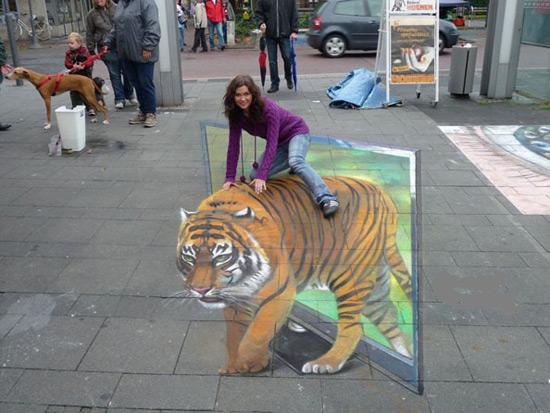 25 de desene 3D pe asfalt - Poza 23